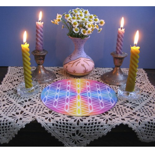 Ascending Masters Flower of Life Altar Cloth