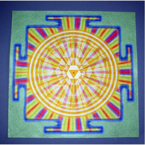 Sri Yantra Golden Altar Healing Cloth